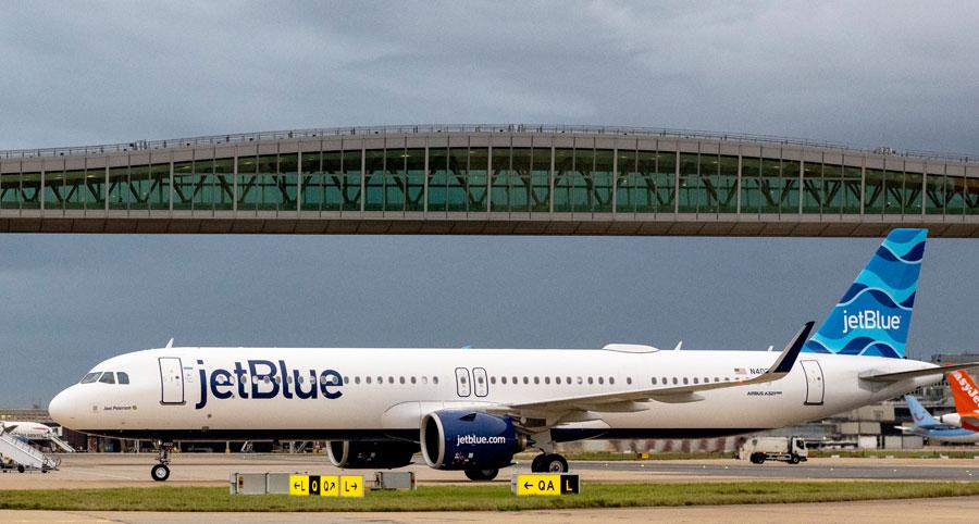 ジェットブルー航空(エアバスA321LR型機)
