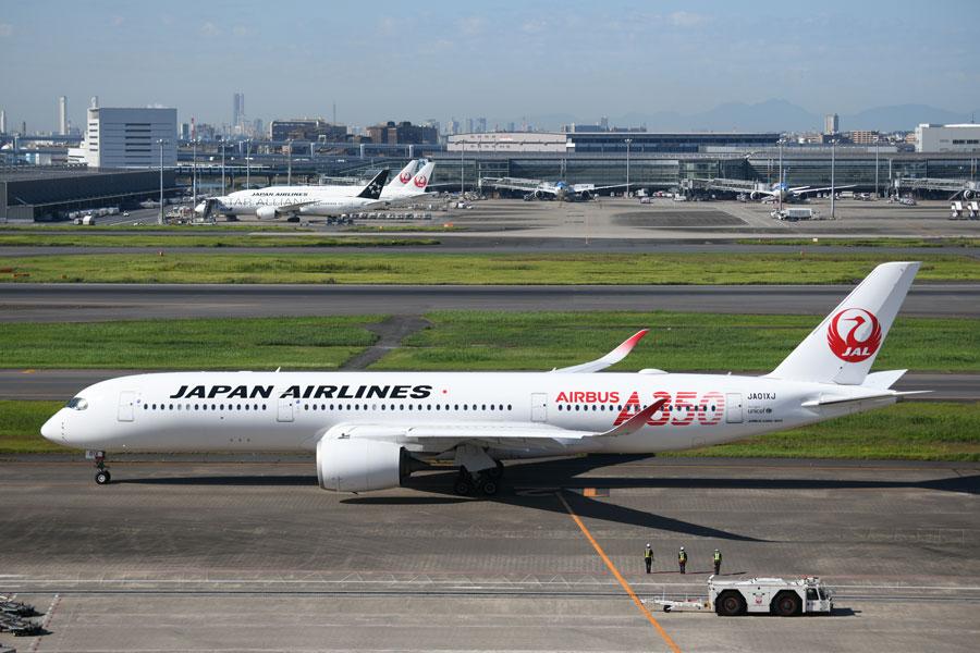 JAL(エアバスA350-900型機、JA01XJ)